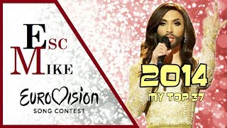 Eurovision 2014 - My Top 37 [With Rating]