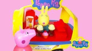 Peppa Eet Een Ijsje Bij Rebecca Rabbit Ijskraam Nederlands Speelgoed Filmpje Op Youtube Youtube