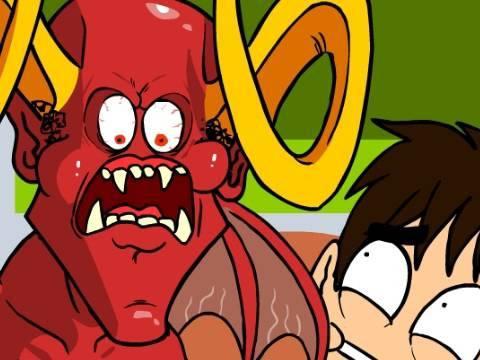 Leo and Satan - Algebra Aversion - Oney Cartoons