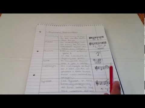 Analysieren der Rhythmik eines Werkes - Anleitung