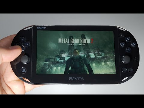 Metal Gear Solid 2: Sons Of Liberty | PS Vita Slim Handheld Gameplay