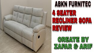 #reclinersofa NEW RECLINER SOFA 4 SEATER REVIEW ( Italy design ) || manual machanism ||