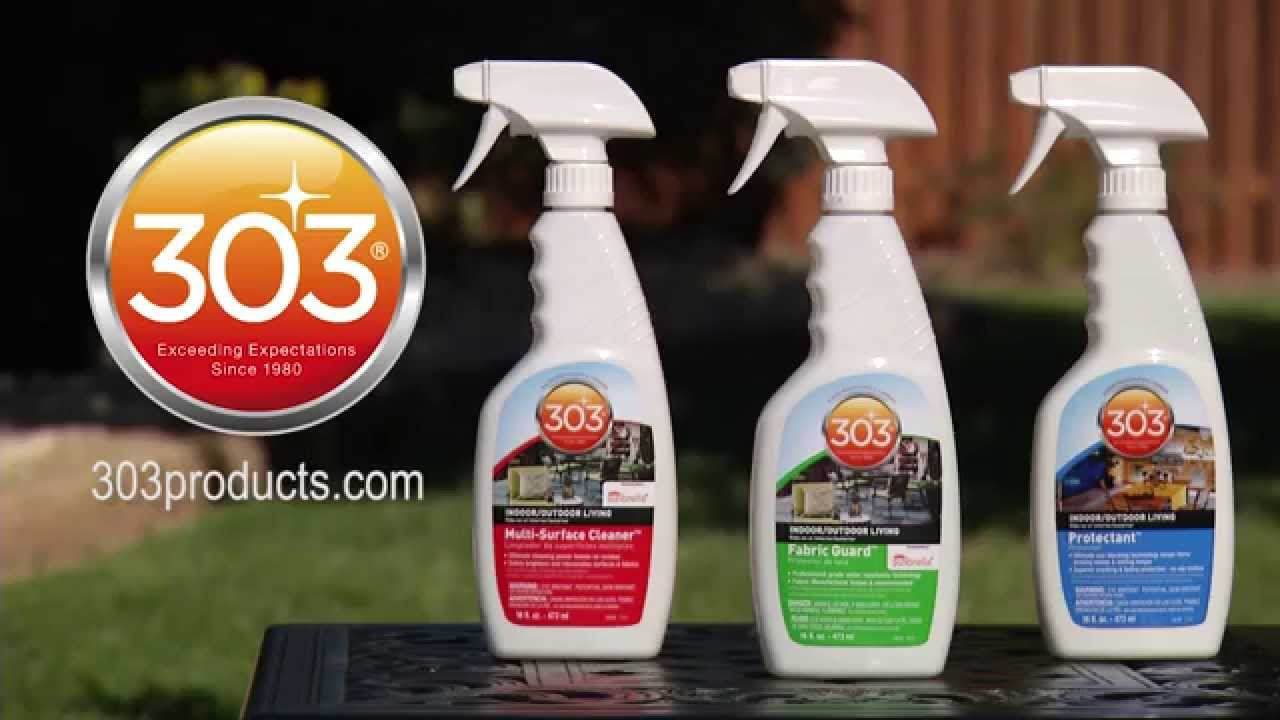 Caring for outdoor wicker furniture with 303 multi surface cleaner