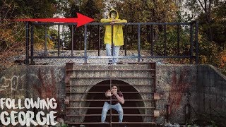 One of Scrubzah's most viewed videos: I FOLLOWED GEORGIE FROM IT BACK TO THE SEWER AND I ENDED UP AT THE PENNYWISE SEWER | FOLLOWING HIM