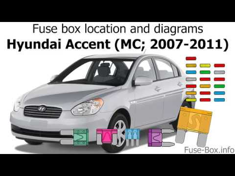 Fuse box location and diagrams: Hyundai Accent (MC; 2007-2011) - YouTubeYouTube