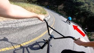 INTENSE BMX vs BMX HILL BOMB RACE ENDS IN BRUTAL CRASH *FULL SPEED*
