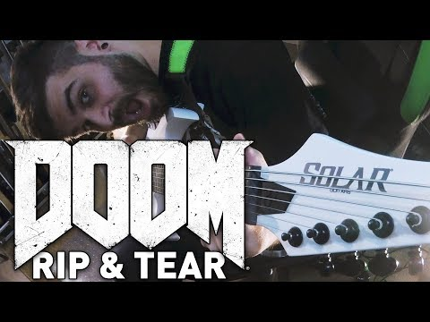 Doom OST - Rip & Tear Guitar Cover - Andrew Baena & Paul Ozz