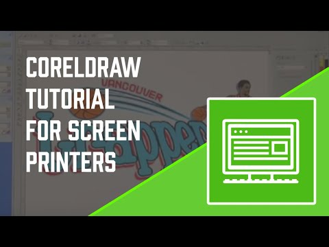 How-To Screen Print: Corel Draw Tutorial for Screen printers - Screen Printing 101 DVD pt 5