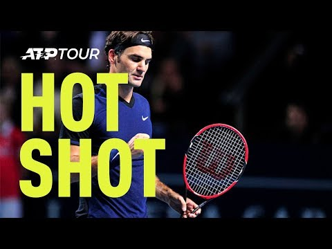 Roger Federer Hot Shot 'Catch' Basel 2015