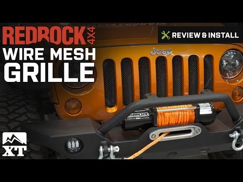 Jeep Wrangler RedRock 4x4 Wire Mesh Grille (2007-2016 JK) Review & Install