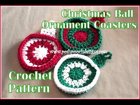 Christmas Ball Ornament Coaster Crochet Pattern Youtube