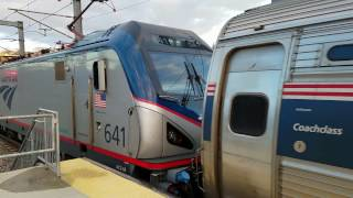 Viewliner Sleeper on a Northeast Regional & More Awesome Trains from Providence Station