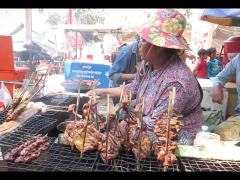 Food Market at Oudong Mountain Resort in Cambodia