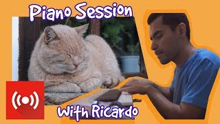 Relax My Cat 🐱 - Live Piano Music from Ricardo - Music to help with July 4th Fireworks 🎆