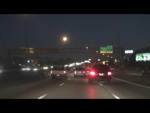 Houston TX Night Freeway Tour