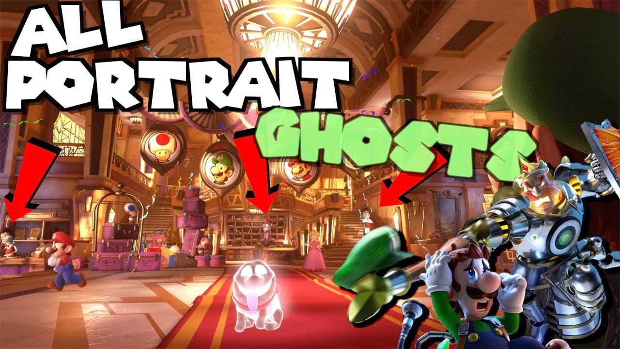 Luigi S Mansion 3 All Portrait Ghosts And Ghost Types So Far Mansion 1 And 2 Comparison