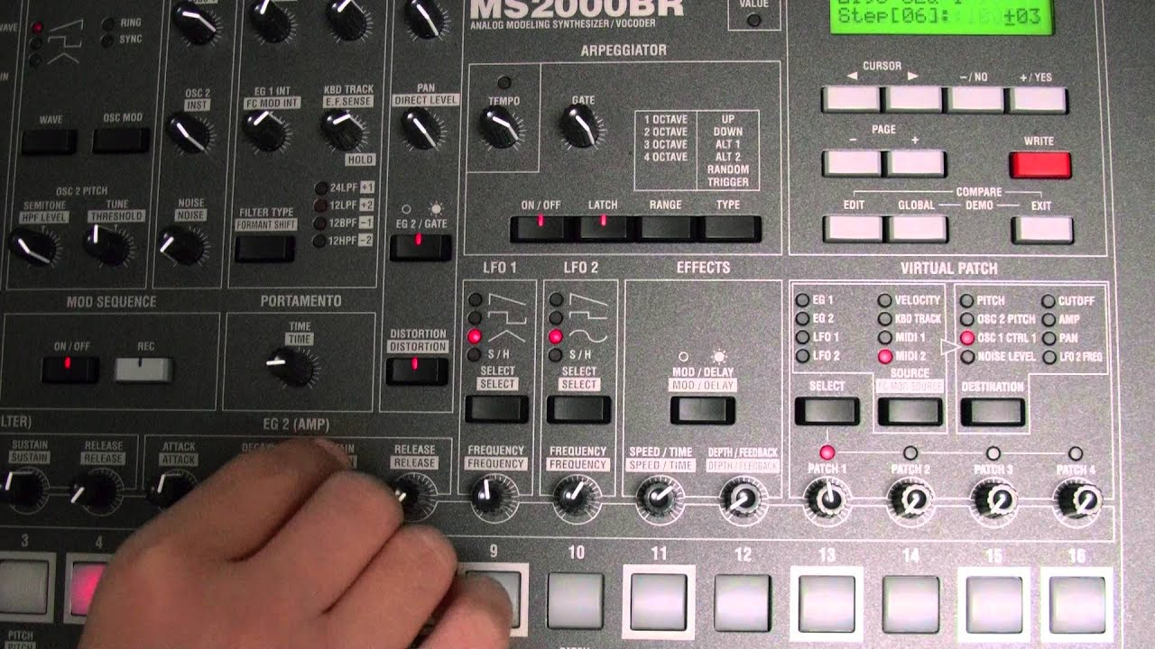 KORG MS2000BR Realtime modulation demo - YouTube