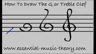 How To Draw The G Clef (Treble Clef)