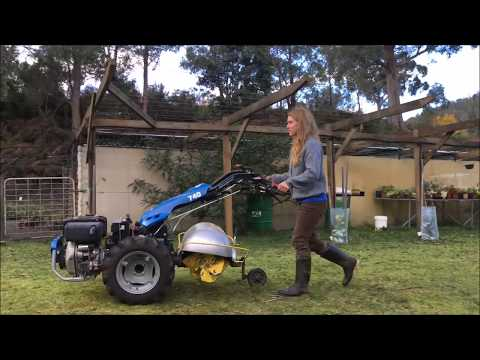 microfarming permabed building, BCS walkbehind and attachments