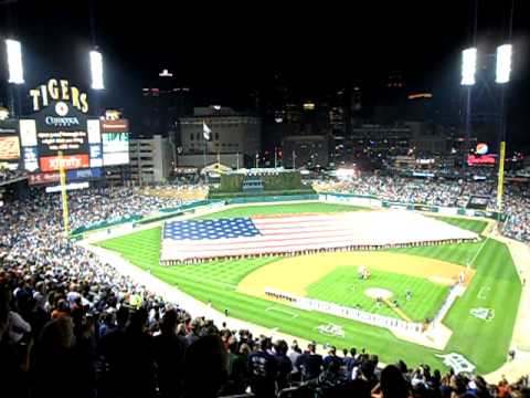 Aretha Franklin Sings the National Anthem at Comerica Park, Detroit, 10-11-2011