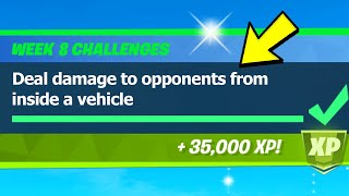 Deal damage to opponents from inside a vehicle locations (0/10000) - Fortnite
