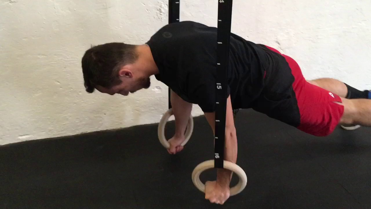 FLR on Rings (Front Leaning Rest on Rings)