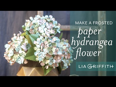DIY Stunning Hydrangea Flower with Frosted Paper (full tutorial)