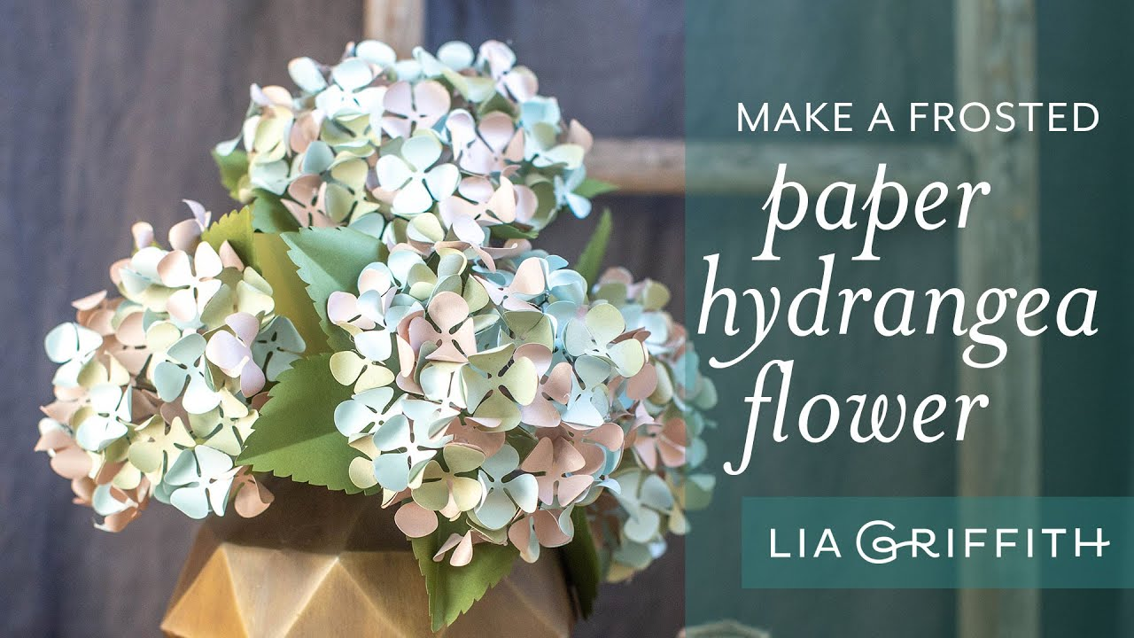 Video Tutorial: Frosted Paper Hydrangeas