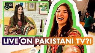 European Girl Stressed Out LIVE on Pakistan TV