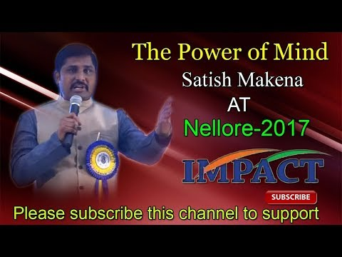 Satish Makena at IMPACT Nelllore 2017
