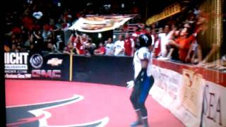 Arena Football League fan Tackles and Holds player