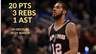 LaMarcus Aldridge 20 Pts 3 Rebs 1 Ast Highlights Vs Memphis Grizzlies | NBA 20/21 Season