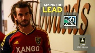 "Kyle Beckerman of Real Salt Lake in ""Taking the Lead"" pres. by Army"