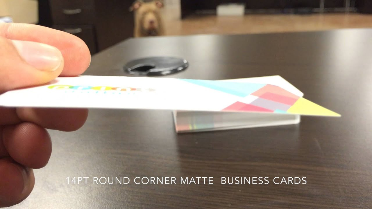 What is a 14PT Matte Business Card? In 60 seconds - YouTube