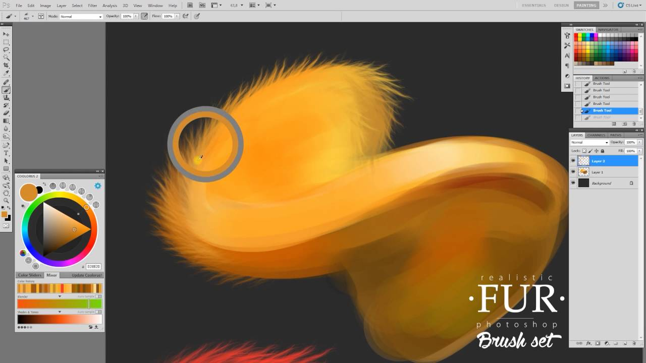 20 Realistic Fur Photoshop Brushes for Digital Artists