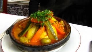 Tagine tiznit au poulet au restaurant les saveurs du maroc à Boulogne billancourt 摩洛哥餐馆