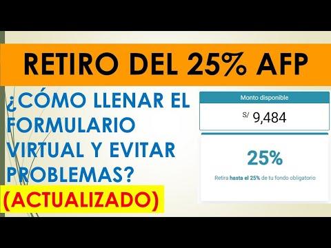 RETIRO 25% DE AFP| ¿Cómo llenar la solicitud de retiro?| Paso a Paso (Actualizado)