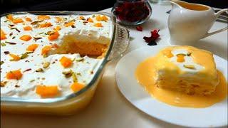 Mouth-Watering Mango Tres Leches Cake  Mango Milk Cake  Easy Mango Milk cake