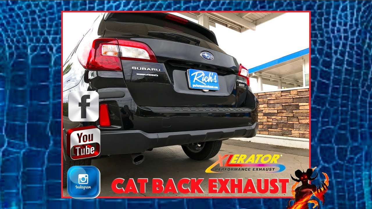 subaru outback cat back exhaust xlerator performance by rich s