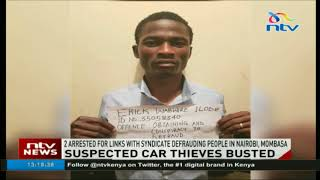 2 suspected car thieves arrested
