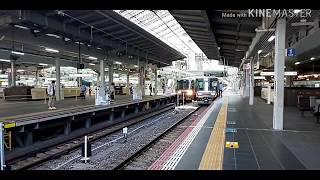 223系2000番台6両編成快速野洲行き 大阪駅発車