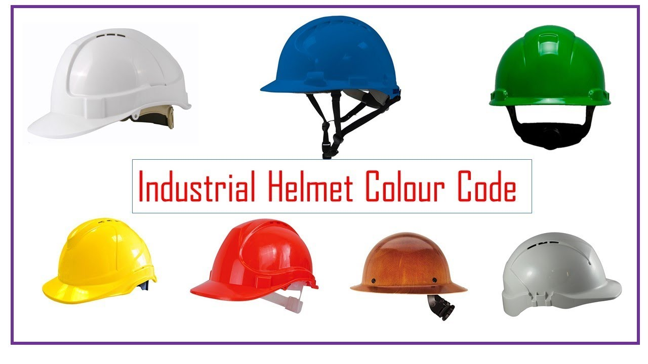 Industrial Helmet standard Color Codes  YouTube