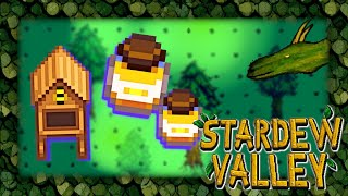 Stealing honey from bees in Stardew Valley live stream #8