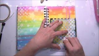 Distress Crayons Technique + Perfect Pearls - Mixed Media Art Journal