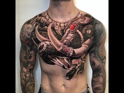 Tổng hợp 1 số hình xăm ở ngực đẹp_Tattoo world