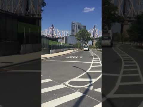 Cornell Tech traffic dangers #1: Southbound traffic on E. Loop Rd, approaching T-intersection
