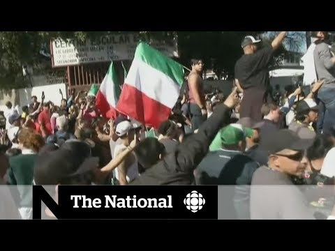 Tijuana protesters blast 'invasion' of Mexico by caravan of migrants