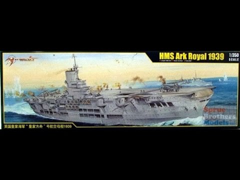 1 350 Scale HMS Ark Royal Kit Review
