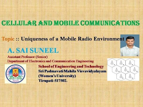 Unit-1:: CMC:: Uniqueness of Mobile Radio Environment, Operation of a Cellular Systems and so on...