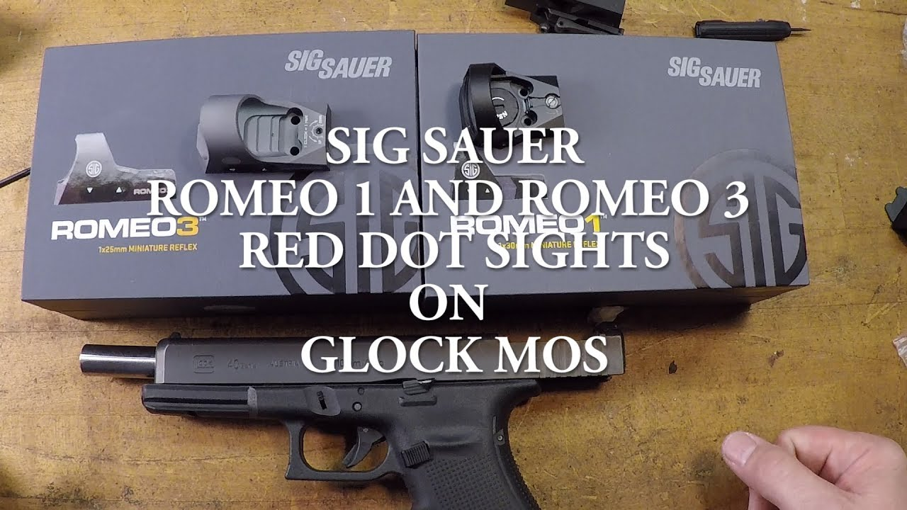 WILL SIG ROMEO SIGHTS FIT ON GLOCK MOS